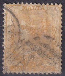 Malta #7 F-VF Used  CV $57.50  (Z1638)