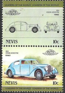 Nevis SC 290a-290b * Voisin Aerodyne * MNH * 1985