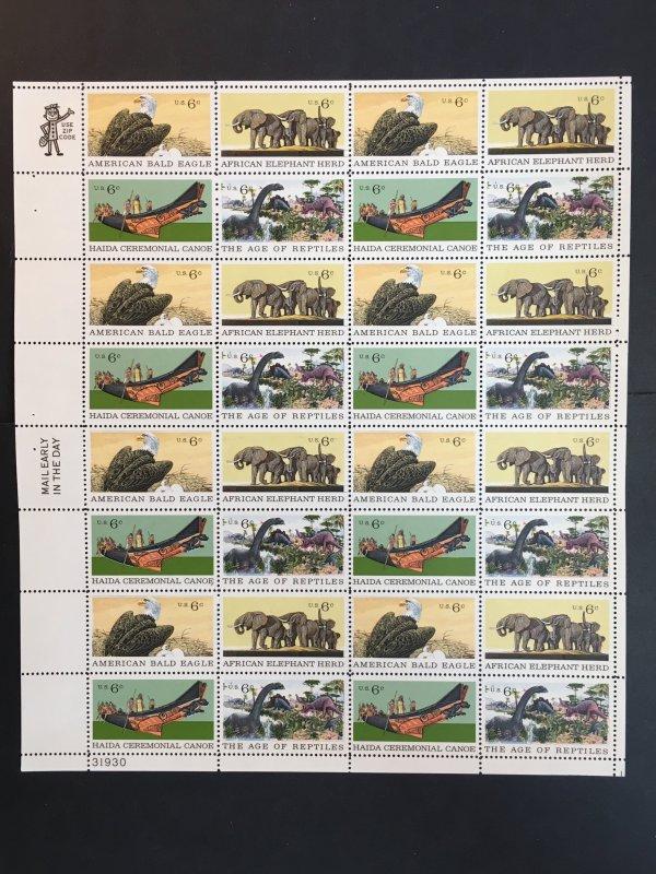 1970 sheet, Natural History, Sc# 1387-1390