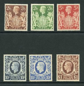 SG476/8c 1937 Square High Values M/M