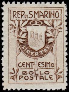 San Marino Scott 78a (1910) Mint H F-VF, CV $16.00