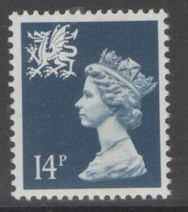 WALES SGW40 1988 14p DEEP BLUE MNH