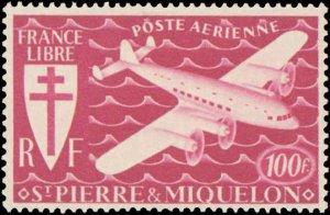 St. Pierre & Miquelon #C1-C7, Complete Set(7), 1942, Hinged
