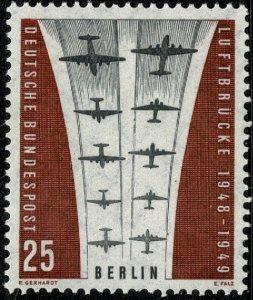 GERMANY BERLIN 1959 10th ANNI. AIRLIFT MINT (NH) SG B183 Wmk.294 P.14 SUPERB
