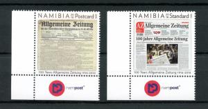 Namibia 2016 MNH Allgemeine Zeitung 100 Years 2v Set Newspapers