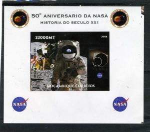 MOZAMBIQUE 2008 SPACE NASA Astronaut Deluxe s/s Mint (NH) VF