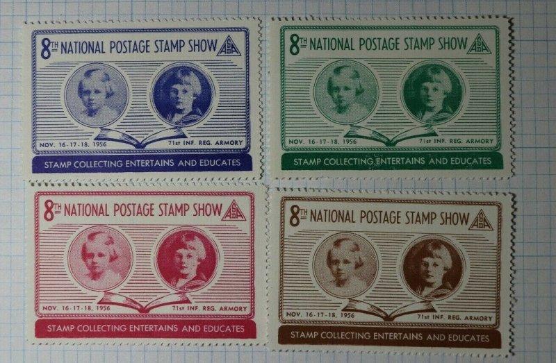 ASDA Natl Postage Stamp Show 1956 Entertains & Educates Philatelic Souveir Label
