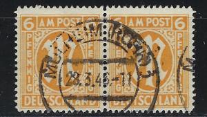 Germany AM Post Scott # 3N5b, used, pair