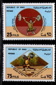 IRAQ Scott 817-818 MNH** Stports set