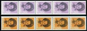 HERRICKSTAMP NETHERLANDS Sc.# 697, 699 NH Coil Strips Stamps