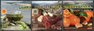 Croatia 2018. Croatian Agriculture and Food Products (MNH OG) Set of 3 stamps