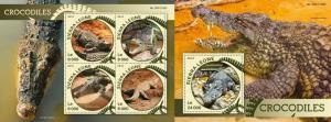 Sierra Leone 2016 fauna reptiles crocodiles  klb+s/s MNH