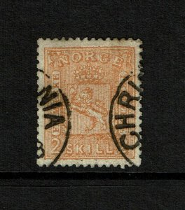 Norway SC# 12, Used, top perf thin - S9194
