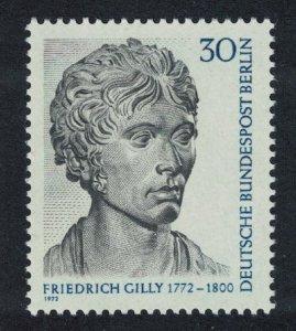 Berlin Birth Friedrich Gilly architect 1972 MNH SG#B413