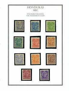 HONDURAS yr. 1892 MLH #65-75