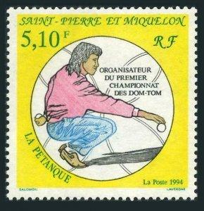 St Pierre & Miquelon 598,MNH.Michel 671. Petanque Championships,1994.