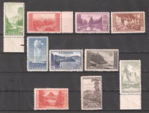 US 1934,National Parks Issue,Sc 740-749,VF MNH**OG
