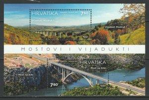 Croatia 2015 Architecture Bridges MNH Block