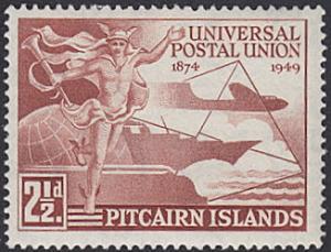 Pitcairn Islands # 13 mnh ~ 2½p UPU
