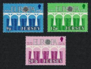 Jersey Europa CEPT 1984 Bridges v SG#330-332
