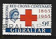 GIBRALTAR, 163, USED, RED CROSS