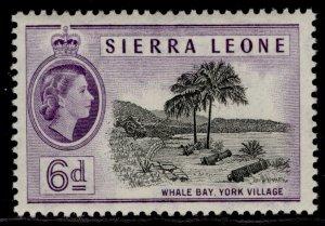 SIERRA LEONE QEII SG216, 6d black & violet, M MINT.