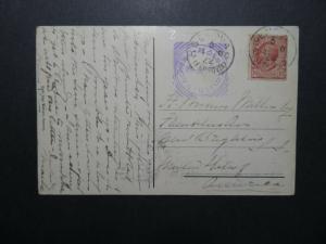 Italy 1910 Postcard HOTEL SMITH Genova Cancel - Z12454