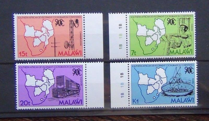 Malawi 1985 South African Development Co-ordination Conference in block x 4 MNH