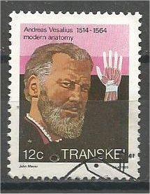 TRANSKEI, 1985, used 12c, Andreas Vesalius. Scott 109