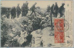 82689 - FRANCE - Postal History - WAR military POSTCARD  1916 - Red Cross