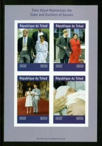 CHAD 2019 DUKE AND DUCHESS OF SUSSEX  SHEET IMPERFORATE   MINT NEVER HINGED