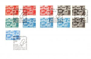 Denmark, Iceland, Norway, Sweden, Finland, Worldwide First Day Cover, Stamp C...