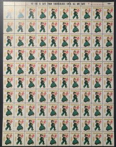 Christmas Seal 1956 full sheet.  MNH. OG.