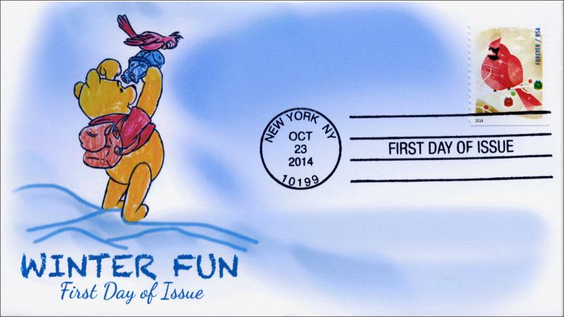 SC 4939, 2014, Winter Fun, Bird Watching, FDC,  Item 14-190