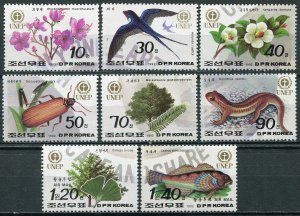 Korea 1992. Flora and Fauna (MNH OG) Set of 8 stamps