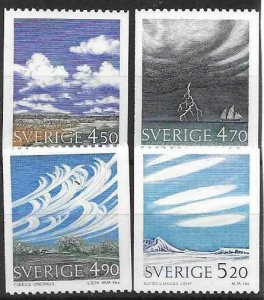 1990   SWEDEN  -  SG.  1537 / 1540  -  CLOUDS   -  MNH