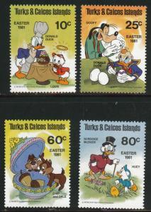 Turks and Caicos Scott 476-479 MNH** Disney set
