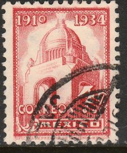 MEXICO 709, 4c REVOLUTION MONUMENT 1934 DEFINITIVE USED. F-VF. (526)