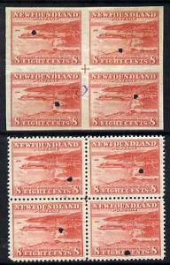 Newfoundland 1941-44 KG6 Paper Mills 8c in perf & imperf ...