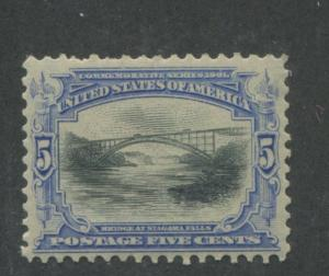 1901 US Stamp #297 5c Mint Hinged VF Original Gum Pan-American Exposition Issue