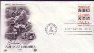 US FDC Sc.# 2015 Saluting Americas Libraries L706