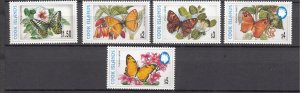 J28405 1997-8 cook island mnh part of set #1226a-1226e butterflies