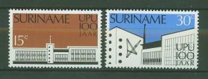 SURINAM/SURINAME 1974 MNH SC.417/18 Cent.UPU