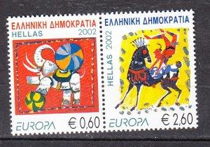 J26320  jlstamps 2002 greece pair set mnh #2031 europa