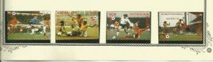 ANTIGUA SCOTT 548-51 MNH CHANGED COLORS RED