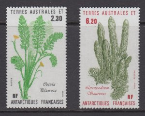 French Southern & Antarctic Territories    #121-22   mnh       cat $2.75