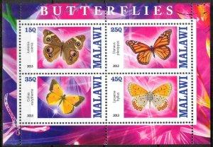 Malawi 2013 Butterflies (4) MNH Cinderella !