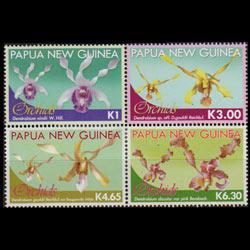 PAPUA NEW GUINEA 2010 - Scott# 1496a-d Orchids Set of 4 LH