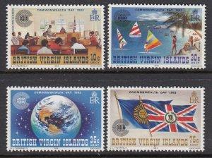 Virgin Islands 442-5 Commonwealth Day mnh