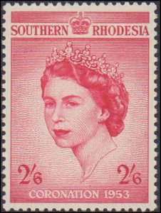 Southern Rhodesia #80, Complete Set, 1953, Royalty, Never Hinged